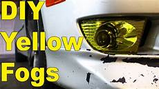 Diy Fog Lights Diy Yellow Fog Lights Fog Light Tint Youtube