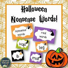 Halloween Themed Words Nonsense Words And Real Words Match Up Halloween Theme