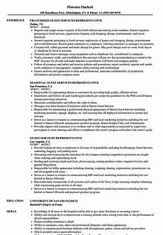 Guest Services Resume Guest Services Representative Resume Samples Velvet Jobs