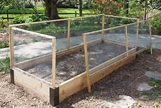 raised bed fence with custom corners
