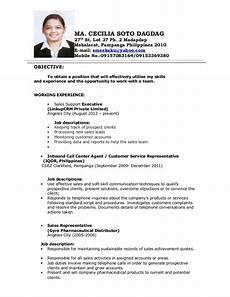 Resume For A Call Center Agent Image Result For Objectives In Resume For Call Center No