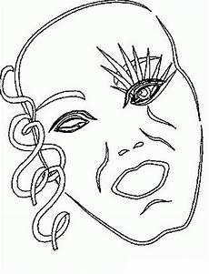 Malvorlage Karneval Maske Malvorlagen Karneval