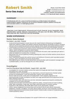 Resume Data Analysis Data Analyst Resume Samples Qwikresume