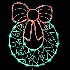 Led Christmas Window Lights 17 Quot Lighted Led Wreath With Bow Christmas Window