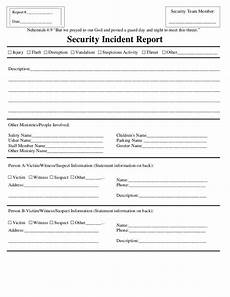 Incident Information Report Security Incident Report