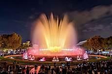Barcelona Night Light Show Plaza Espana Barcelona Fountain Light Show Mall And Metro