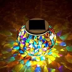 Solar Powered Mosaic Lights Garden Solar Power Mosaic Glass Ball Colorful Led Light