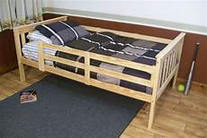 platform bed with safety guard rails or size