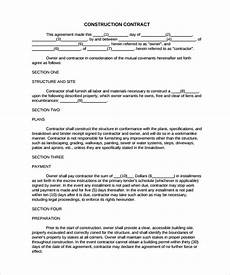 Construction Contract Free Download Free 15 Construction Contract Templates In Pdf Google