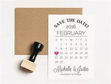 Save The Date Calendar Save The Date Stamp Set Two Stamps Wedding Calendar Stamp