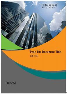 Document Cover Page Design Microsoft Word Cover Page Templates
