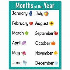 Months Of The Year Chart Creative Teaching Press