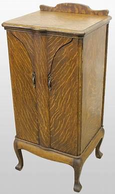 antique oak sheet storage cabinet made by herzog ebay
