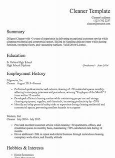 House Cleaner Resume Samples House Cleaning Resume Sample