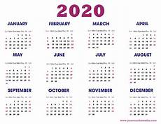 2020 Calendar Free Download Download 2020 Calendar Templates Pdf