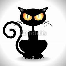 gatto clipart gatto nero arrabbiato angry black cat clip vector