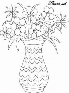 Ausmalbilder Blumenvase Blumenvasen Zum Ausmalen F 252 R Kinder 7