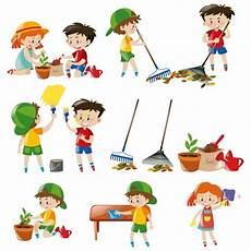 Coloured Kids Collection Vector Free Download