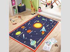 Galaxy planet kids rooms bedroom rugs nursery floor play mats girls home carpets