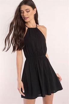 black clothes black skater dress strappy dress black dress skater