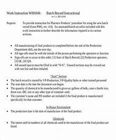 Work Instruction Form 9 Work Instruction Templates Free Sample Example