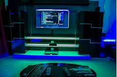 Cool Game Room Lighting Stunning Gaming Setup Ideas With Green And Blue Lighting