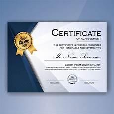 Certificates Of Achievement Free Templates Blue And White Elegant Certificate Of Achievement Template