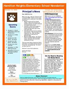 Newsletter Examples For Schools 26 Images Of Sample School Newsletter Template Leseriail Com