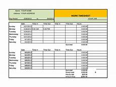 Timesheet Layout 40 Free Timesheet Templates In Excel ᐅ Templatelab