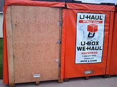 U Haul U Box The Portable Storage Review U Haul U Box Dimensions