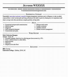Collection Manager Resume Debt Collection Manager Resume Sample Manager Resumes