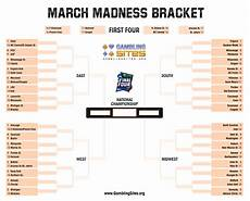 Blank March Madness Bracket March Madness Printable Bracket 2019 March Madness