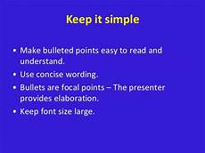 Powerpoint Rules Basic Rules Powerpoint