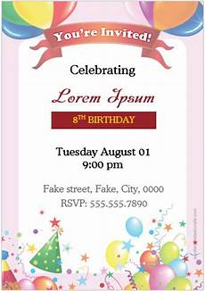 Invitation Cards For Party 10 Birthday Invitation Cards For Ms Word Users Word
