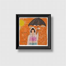 Unlucky Designs Cloudy Me Design Being Unlucky On A Rainy Day Art Print