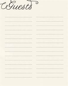 Guest Sign In Sheet Template Items Similar To Print At Home Guest Sign In Sheet On Etsy