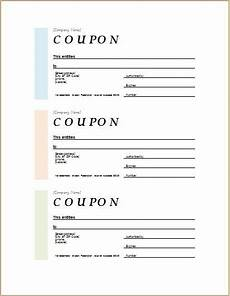 Coupon Template Free Word How To Make Coupons With Sample Coupon Templates Word