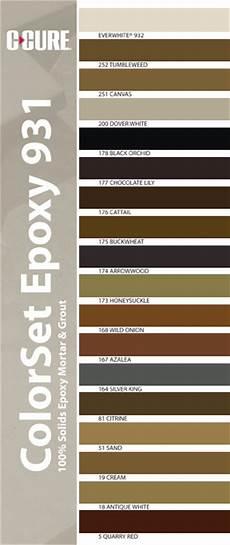 C Cure Grout Color Chart C Cure Epoxies