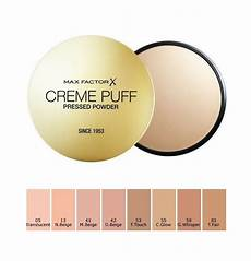 Max Factor Creme Puff Colour Chart Max Factor Creme Puff Compact Powder 21g Face Powder Ebay