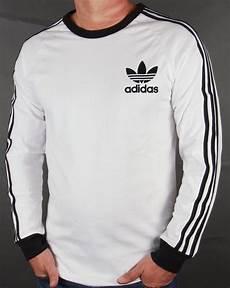 adidas sleeve shirt adidas originals 3 stripes sleeve t shirt white black