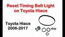 How To Reset Timing Belt Light On Toyota Hiace 2016 Reset Timing Belt Light On Toyota Hiace Youtube