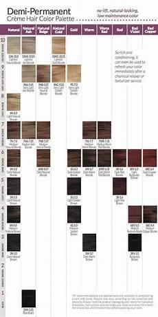Ion Hair Color Chart Ion Demi Permanent Hair Color Chart The Advantages