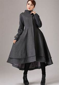 dress winter coats for gray wool coat winter dress coat with layered hem