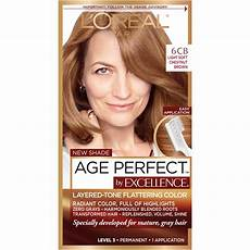 Loreal Light Chestnut Brown Amazon Com L Oreal Paris Excellenceage Perfect Layered