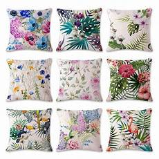 18 quot square fashion pillows tropical flower leaves