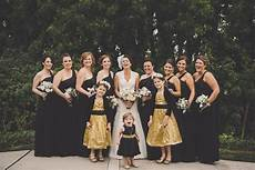 black white gold wedding with glitter details in
