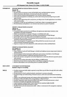 Collection Resume Examples Credit Amp Collections Analyst Resume Samples Velvet Jobs