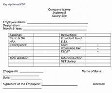 Salary Slip Format India What Is Employee Salary Slip Format Pd Wisdom Jobs India