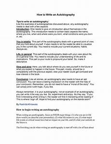 Autobiography Writing Template Autobiography Essay Template 40 Autobiography Examples