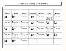 Monthly Employee Schedule Template Free Monthly Work Schedule Template Task List Templates